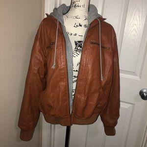 Jackets & Blazers - Torrid Plus Size Faux Leather Biker Style Jacket